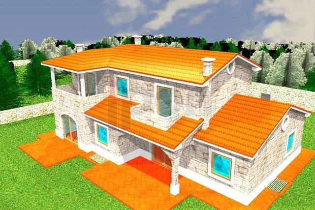 Kras, otok Krk, građevinsko i negrađevinsko zemljište površine 2050 m2