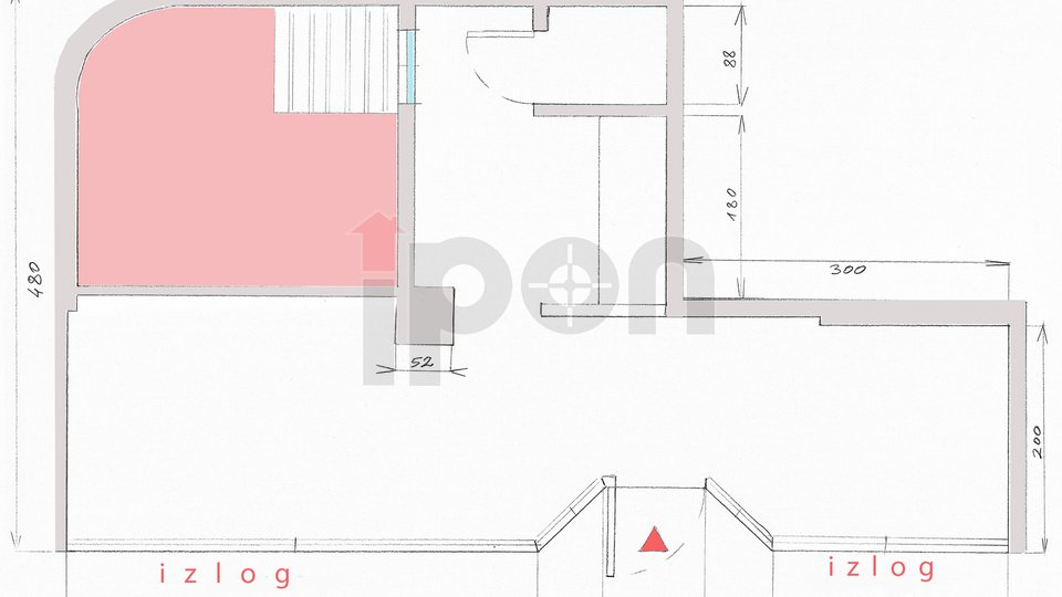 Commercial Property, 33 m2, For Sale, Rijeka - Centar