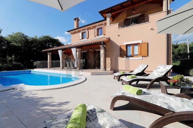 Dobrinj-Kras, novija predivna kuća sa bazenom !