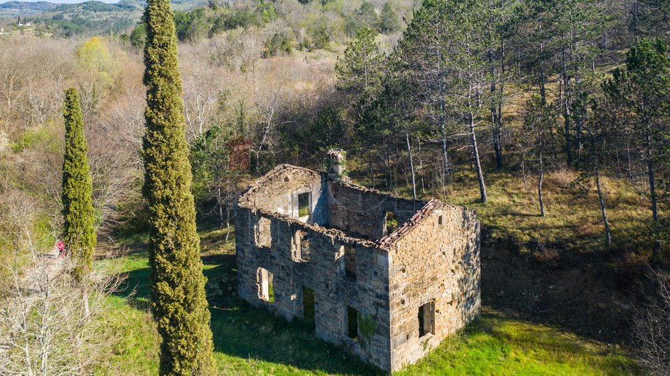 Kršan-Brdo, kamena kuća za obnovu. PRILIKA !