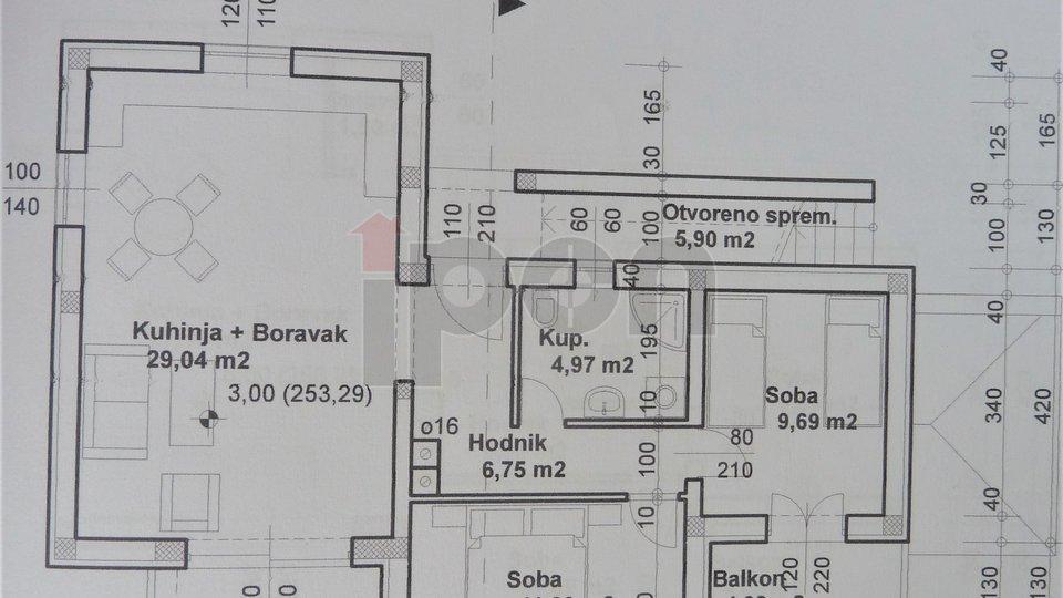 Matulji-okolica, stan u novogradnji površine 74 m2