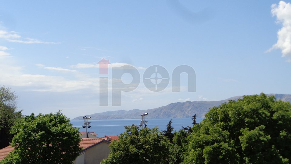 Novi Vinodolski, krasan 2s+db sa loggom i pogledom na more