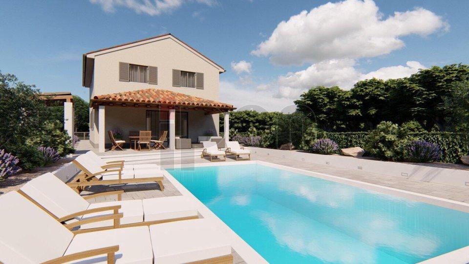 Buzet, Sovinjak, kuća s bazenom, novogradnja!
