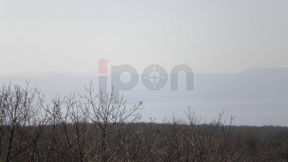 Novi Vinodolski, samostojeća kuca P+1 u prirodi sa pogledom na more